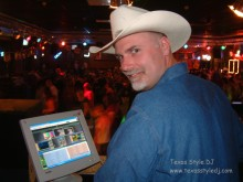 Brent Sweetin of Texas Style DJ using OtsAV with Video to entertain the US troops based in Germany